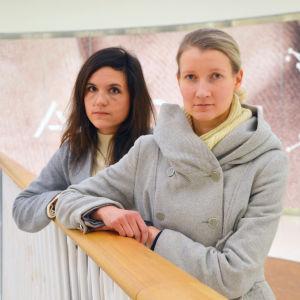 Nira Biaudet och Johanna Meriläinen.