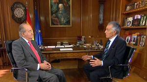 Juan Carlos intervjuades i TVE på grund av sin 75-årsdag