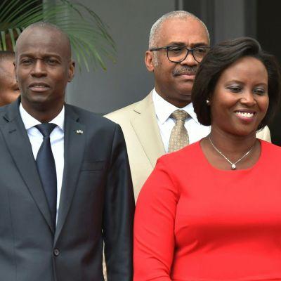 Haitin edesmennyt presidentti Jovenel Moïse vaimonsa Martinen kanssa.