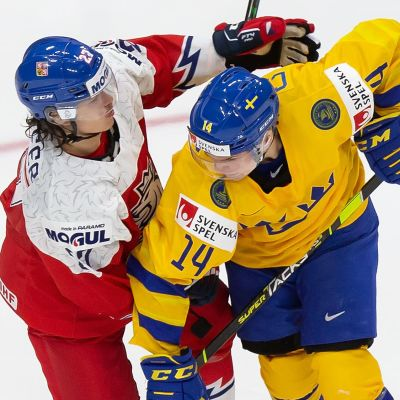 Arvid Costmar i JVM mot Tjeckien.