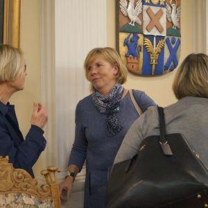 Anna-Maija Lyyra (De Gröna) och Anna-Maja Henriksson (SFP).