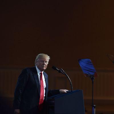 Yhdysvaltain presidentti Donald Trump puhui Marylandissa 24. helmikuuta.