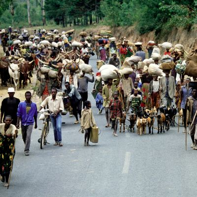 Ruandalaisia pakolaisia vuonna 1994.