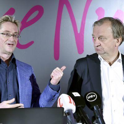 Mikael Jungner ja Harry Hjallis Harkimo.