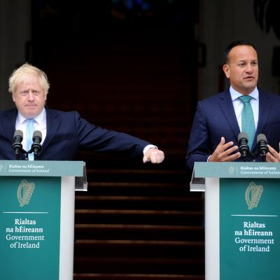 Boris Johnson ja Leo Varadkar tapasivat Dublinissa.