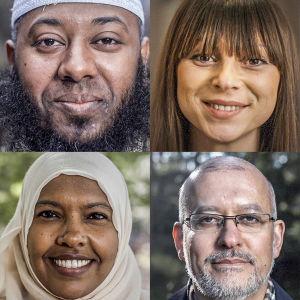 Bildkollage över de som deltar i tv-serien Jag är muslim.