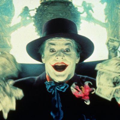 Jack Nicholson Jokerina vuonna 1989.