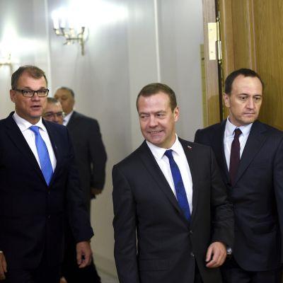 juha Sipilä ja Dimitri Medvedev tapasivat 21.09.2017