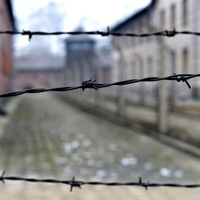 Auschwitz-Birkenaun keskitysleiri kuvattuna ennen holokaustin uhrien muistopäivän seremonioita lauantaina.