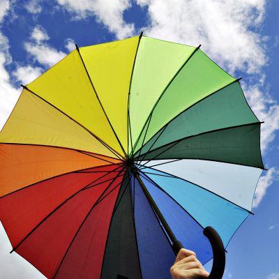 Sateenkaarisateenvarjo.
