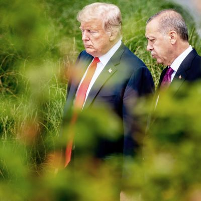 Presidentit Donald Trump ja Recep Tayyip Erdogan