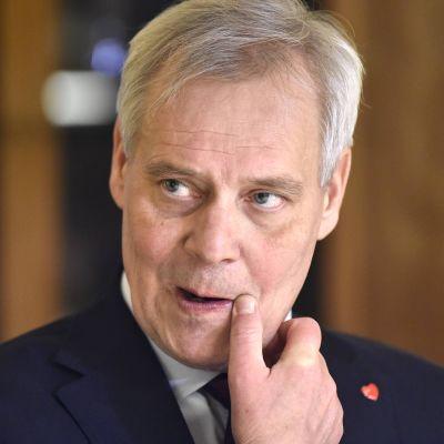 Antti Rinne lehdistötilaisuudessa Moskovassa 25. marraskuuta.