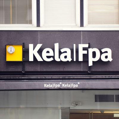 Kelan logo Helsingissä.