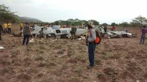 Ett militärflygplan kraschade i Colombias norra del den 31 juli 2015.