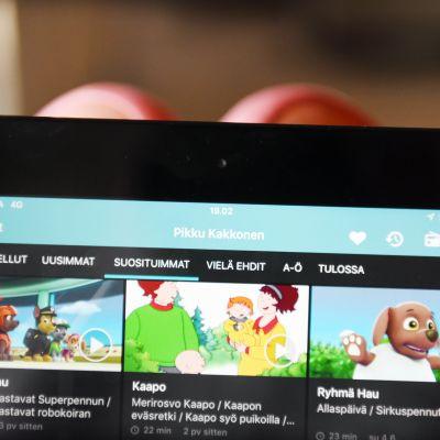 Pikku kakkosen ohjelmia Yle Areenan sivustolla.