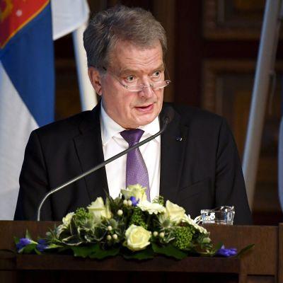 Tasavallan presidentti Sauli Niinistö osallistui 227. valtakunnallisen maanpuolustuskurssin avajaisiin.