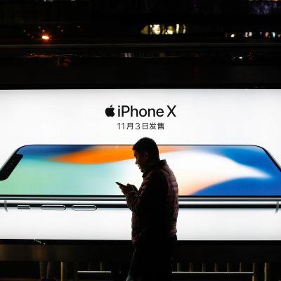 Applen myynti on takunnut Kiinassa viime vuonna.