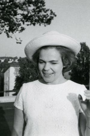 Raili Kostia Savonlinnassa 1960-luvulla.
