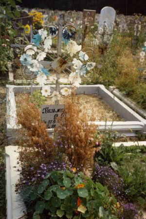 Moskovalainen hautausmaa kesällä.