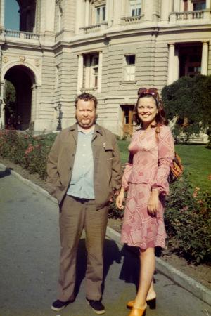 Baritoni Harri Nikkonen ja sopraano Pirkkoliisa Tikka Odessassa 1974.