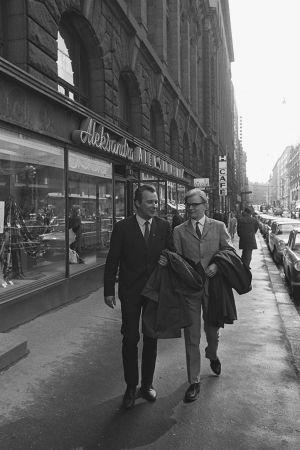 Säveltäjät Aulis Sallinen ja Erkki Salmenhaara Helsingissa 1965.
