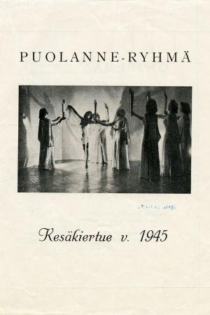 Puolanne-ryhmän kesäkiertueen 1945 esite