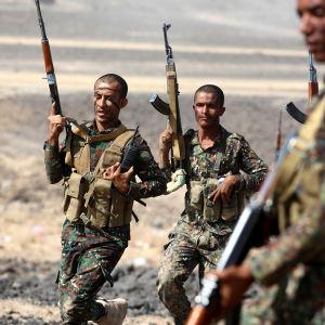 Jemenitiska soldater i Marib den 4 januari.