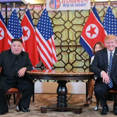 Kim Jong Un och Donald Trump