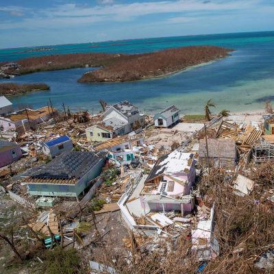 En av de värst drabbade områdena är ön Abaco.