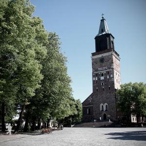 Åbo domkyrka i en lite mörkare bild.