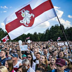 Mielenosoitus Minskissä 30. heinäkuuta 2020.