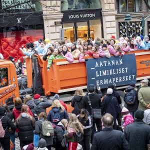 Penkkariajelu Helsingissä 13.2.2020