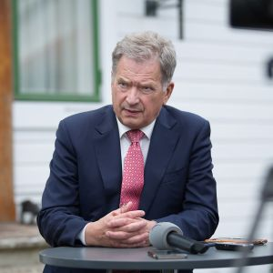 Finlands president Sauli Niinistö.