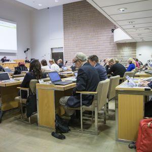 Helsingin kaupunginvaltuutettuja valtuuston kokouksessa