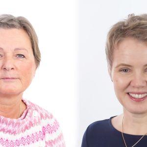 Två kvinnor bredvid varandra i ett bildkollage.
