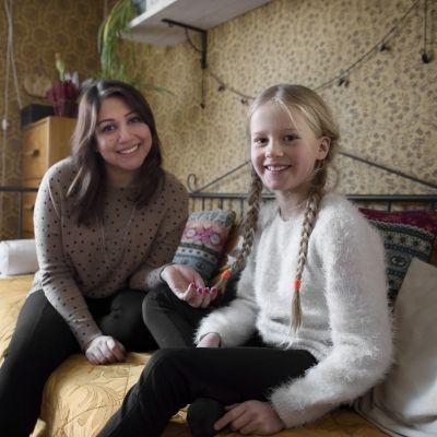 Irakilainen Sahar ja Tinka Andersson