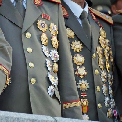 Kenraalien ansiomerkit.