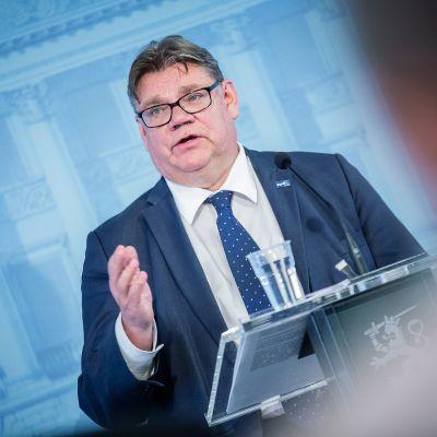 Ulkoministeri Timo Soinin pitää puhettaan ulko- ja turvallisuuspoliittisesta selonteosta 17. kesäkuuta.