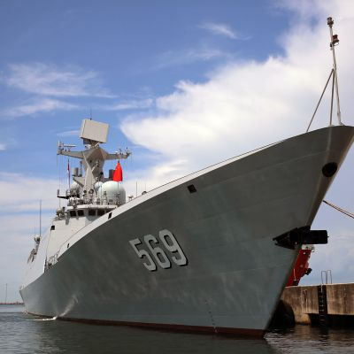 Kiinalainen sota-alus.