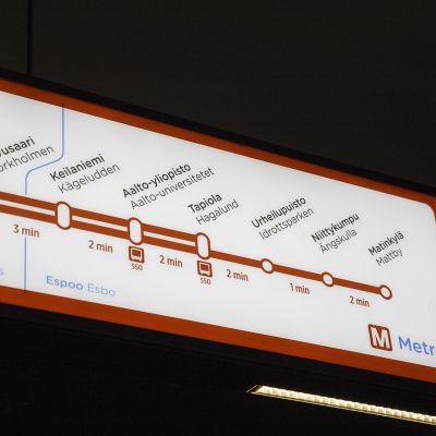 Länsimetro Aalto-yliopiston metroasema