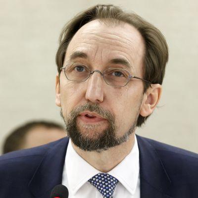 YK:n ihmisoikeuskomissaari Zeid Ra'ad al-Hussein