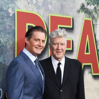 Näyttelijä Kyle MacLachlan ja ohjaaja David Lynch twin Peaks -sarjan uusien jaksojen ensi-illassa Los Angelesissa 19. toukokuuta.