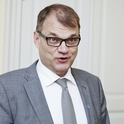 Pääministeri Juha Sipilä tapasi toimittajia Helsingissä 5. heinäkuuta.