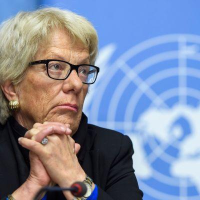 Carla Del Ponte on työskennellyt YK:n Syyria-komission jäsenenä lähes viisi vuotta.