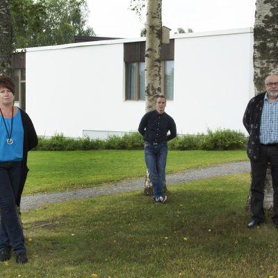 Anne Matokangas, Turo Kalliomaa ja Markku Leppäkangas.