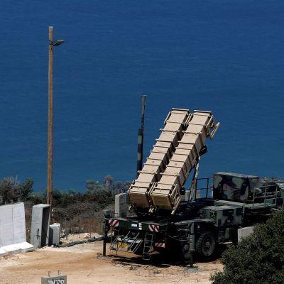 Patriot-ohjuksia Haifan lähellä Israelissa 2013