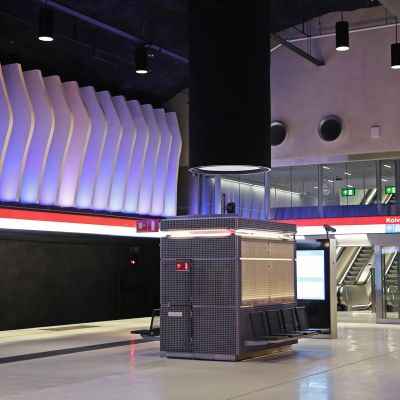 Koivusaaren metroasema.
