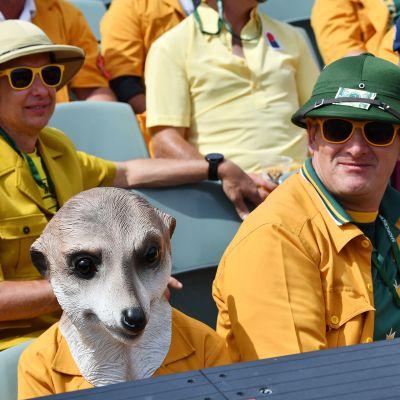 Australian fanit seurasivat krikettipeliä (Australia vs. Englanti) Adelaidessa 5. joulukuuta.