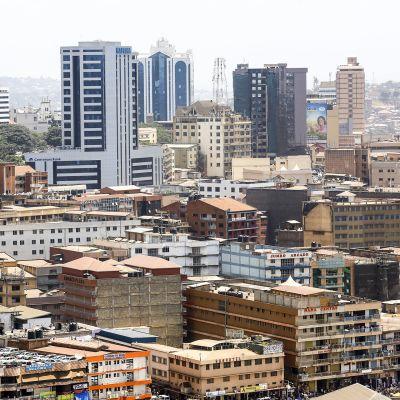 Kampala kaupunkinäkymä