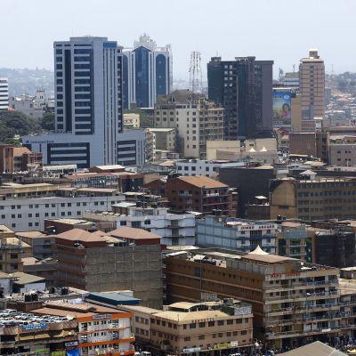 Kampalan keskustaa.